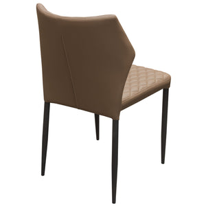 Milo 4-Pack Dining Chairs in Coffee Diamond Leatherette