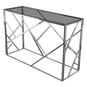 Nest Rectangular Smoked Tempered Console Table