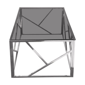 Nest Rectangular Smoked Tempered Cocktail Table