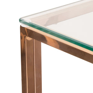 Nest Square Clear Tempered End Table