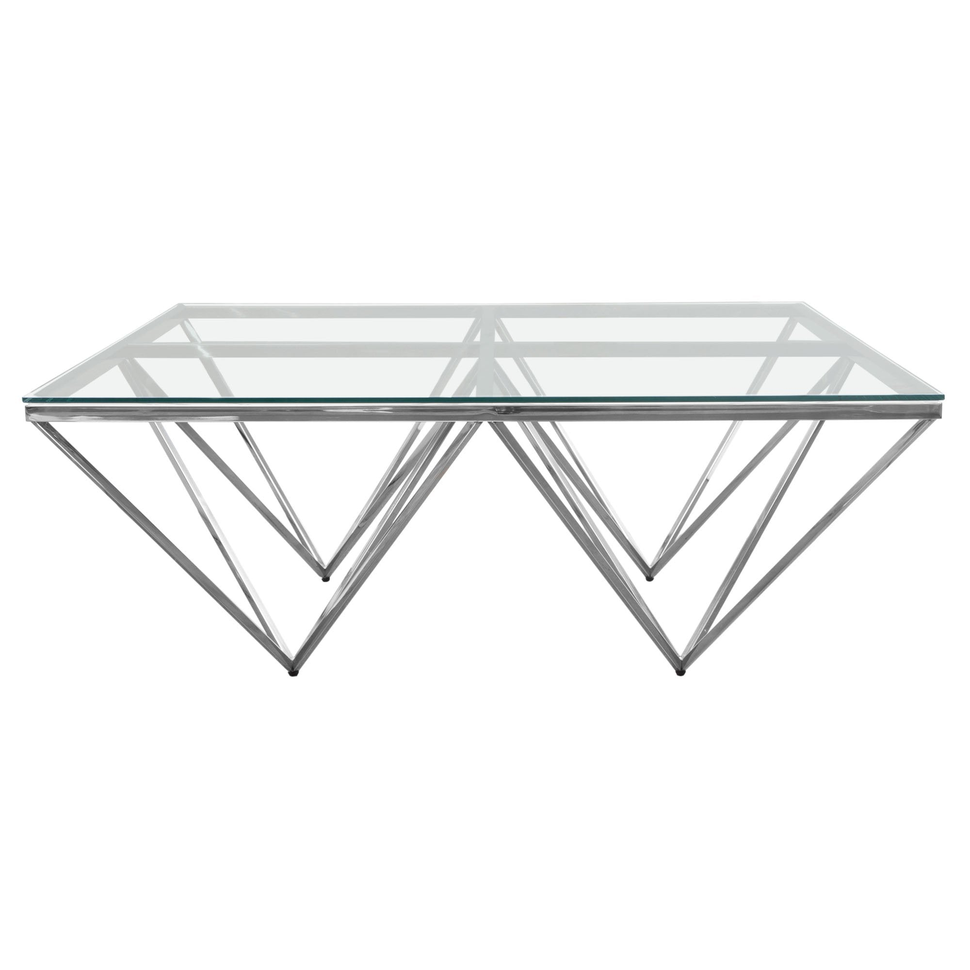 Omni Square Clear Tempered Cocktail Table