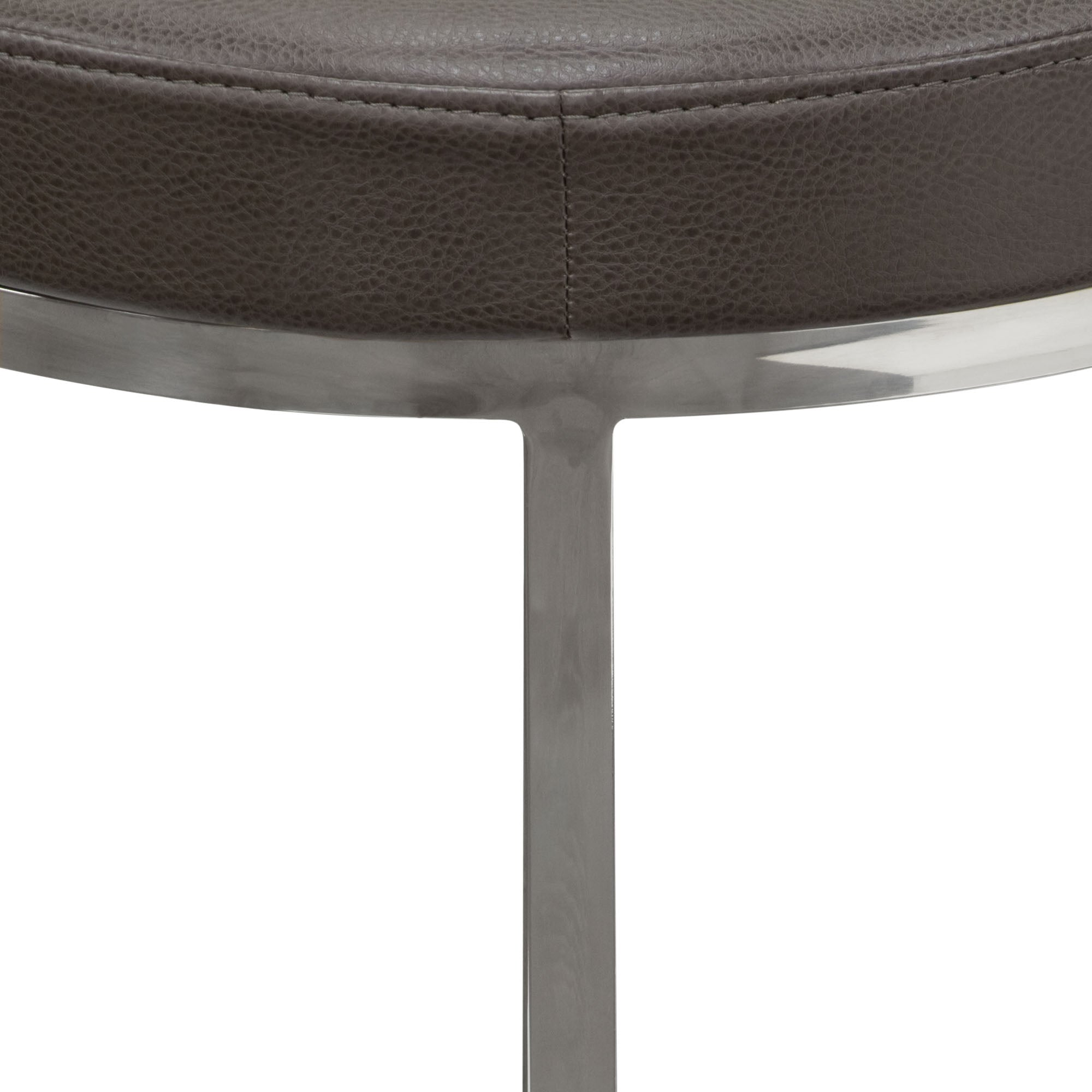 Ritz Round Accent Stool - Elephant Grey