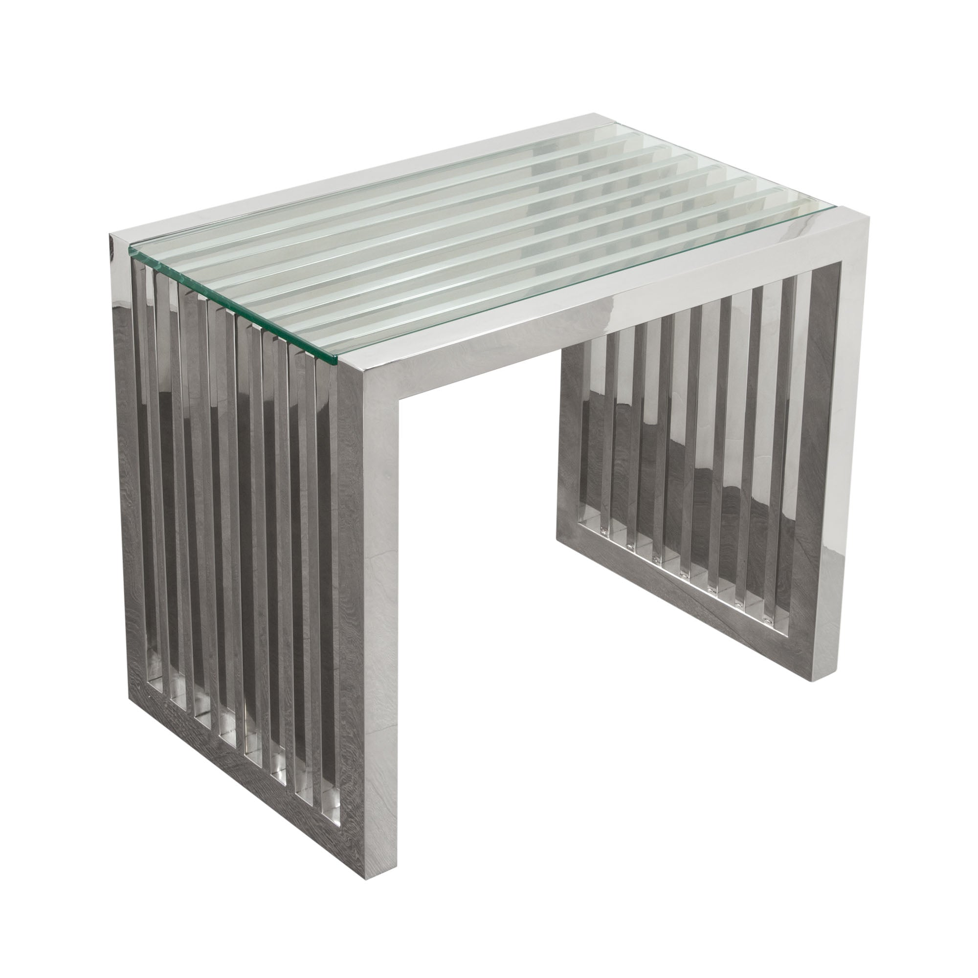 SOHO Rectangular Stainless Steel End Table