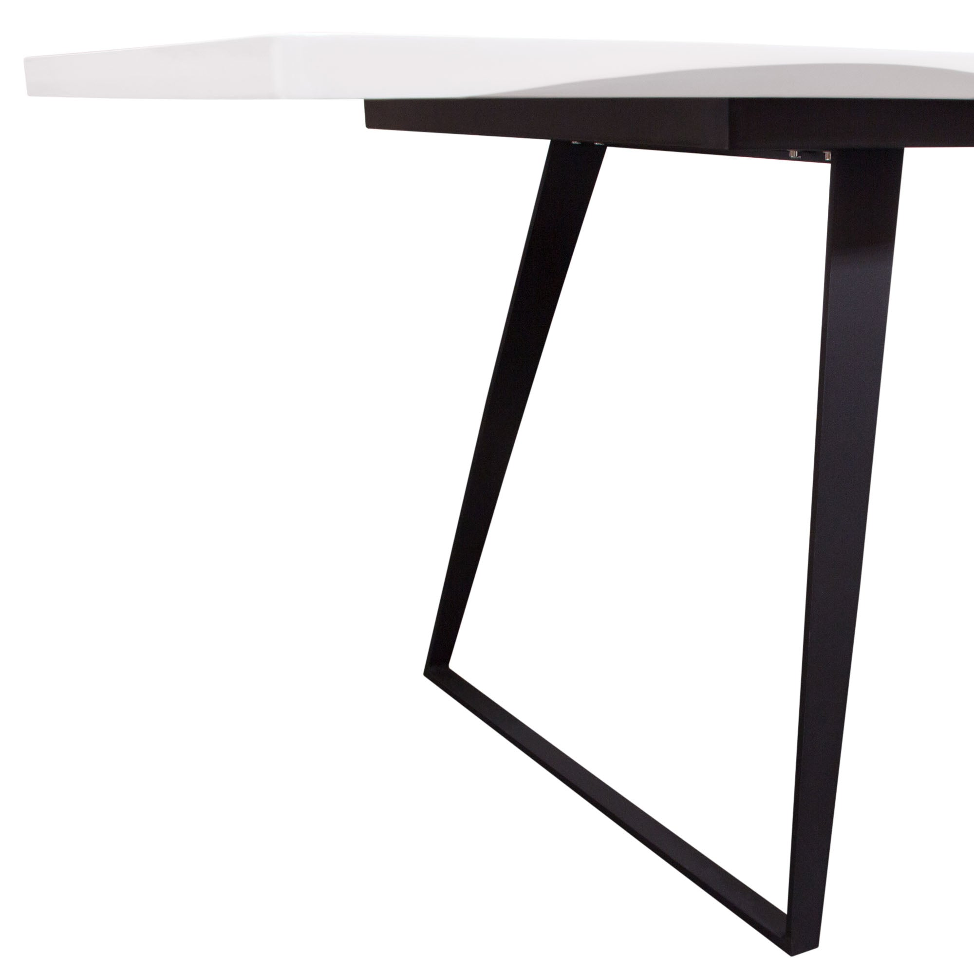 Tempo Extension Dining Table - White