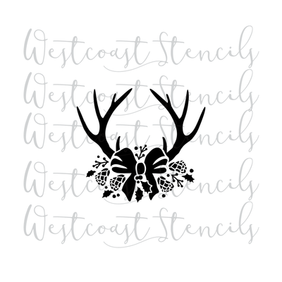 Antlers with Bow