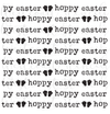 Hoppy Easter with Bunny Feet Text Background