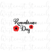 Remembrance Day with Poppies
