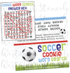 DIGITAL Soccer Word Search Bag Topper