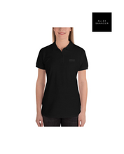 Load image into Gallery viewer, ALLEXSANNNDER | WOMENS FLAG POLO BLACK
