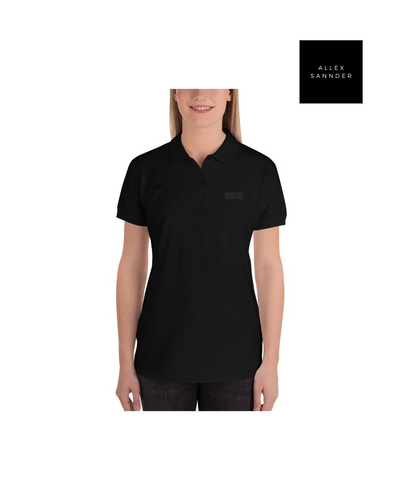 ALLEXSANNNDER | WOMENS FLAG POLO BLACK