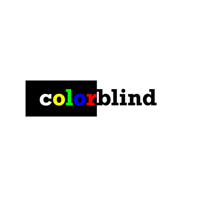 COLORBLIND LOGO STICKER