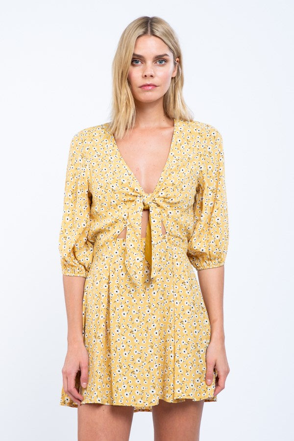 Summer Time Floral Mini Dress
