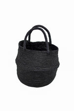 Black Woven Straw Bag