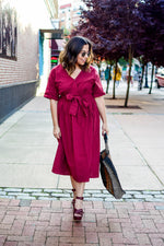 Marbella Burgundy Dress