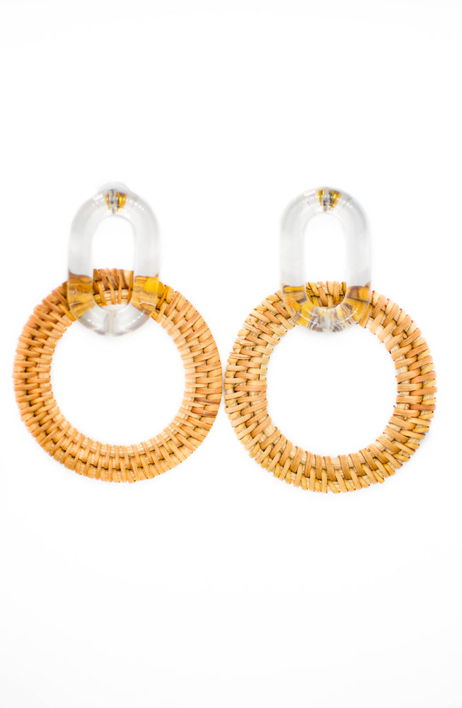 Clear Statement Woven Earrings