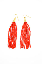 Fun Beaded Fringe Earrings
