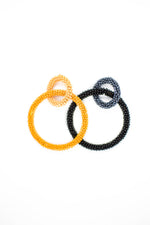 Beaded Intertwined Hoop Earrings