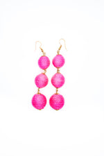 Neon Pink Drop Earrings