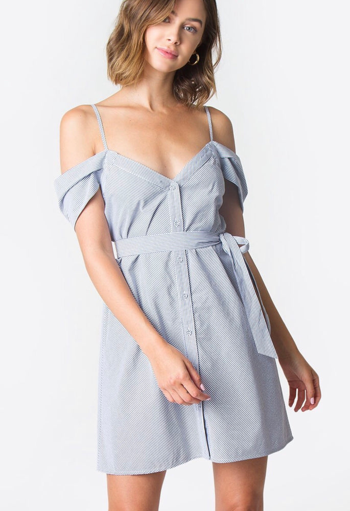 Ava Button Down Dress