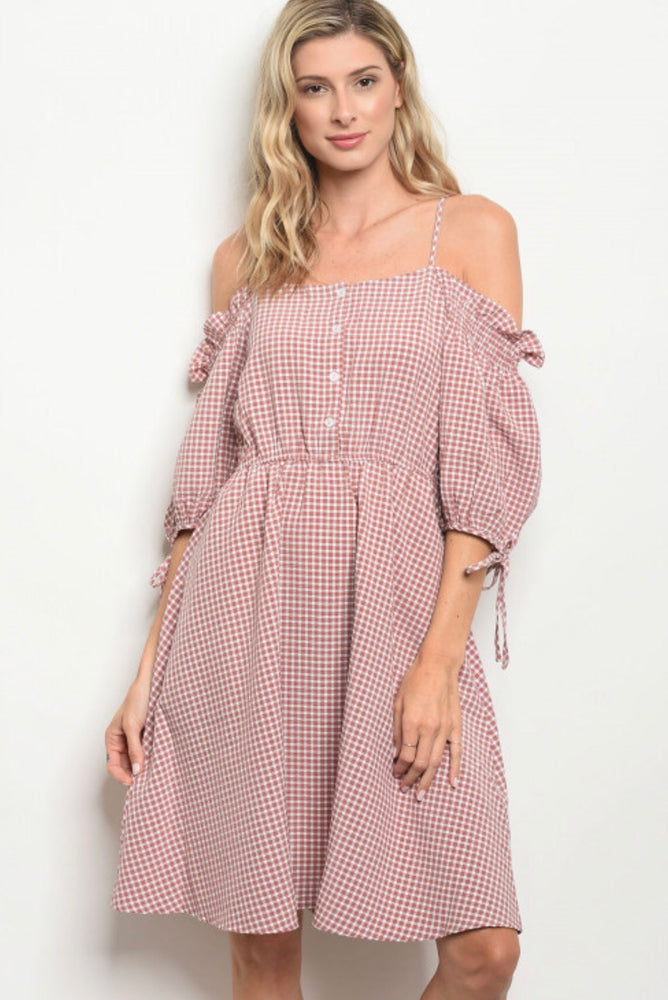 Mauve Plaid Dress