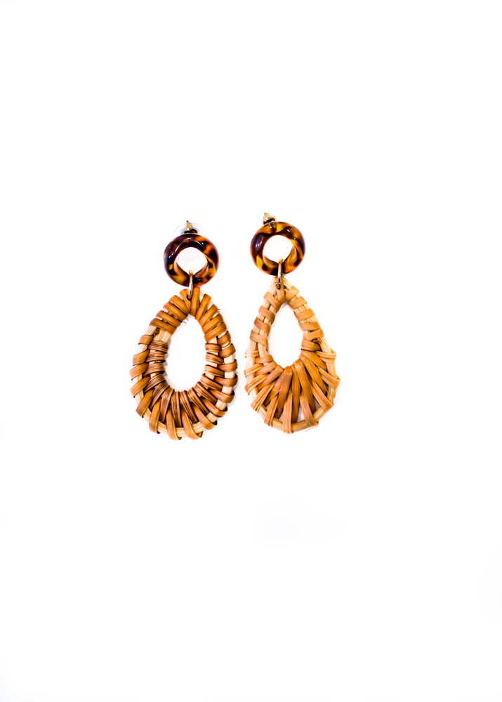 Tortoise Woven Earrings