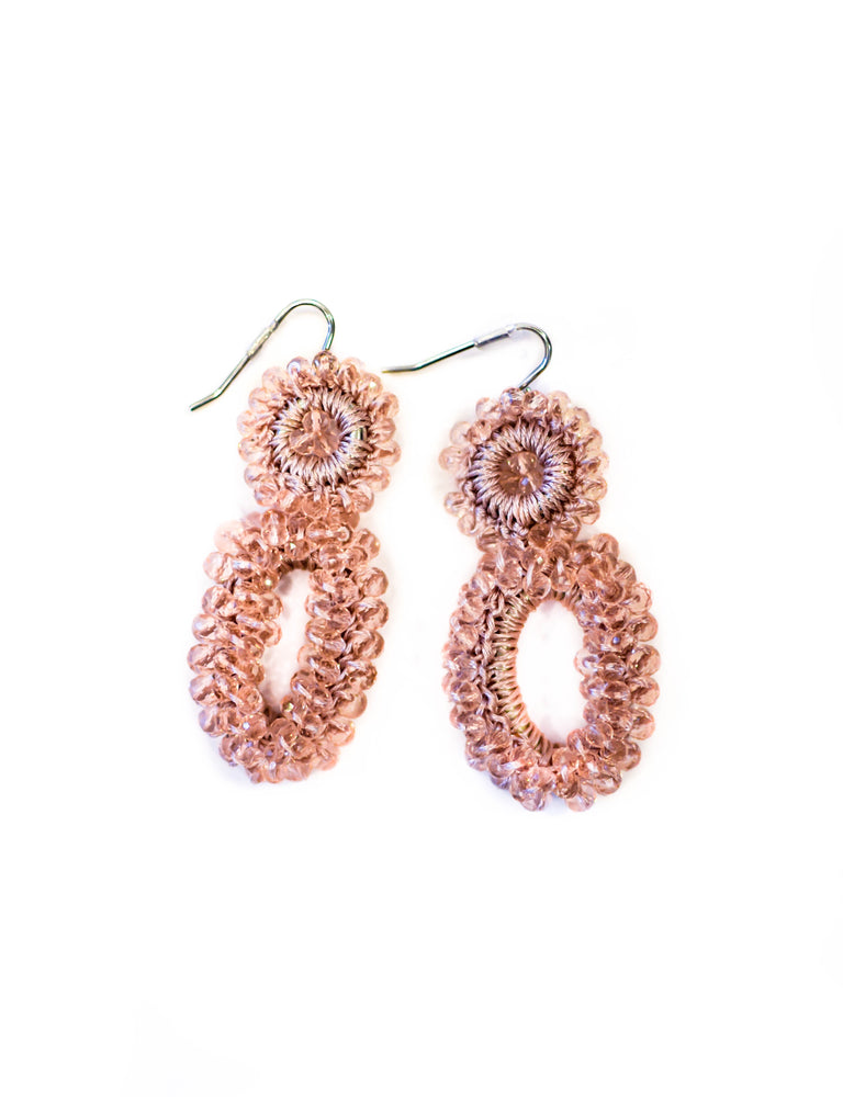 Beaded Crochet Earrings