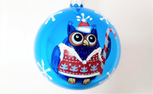 Load image into Gallery viewer, Christmas Ornament - Owl with Candy Cane