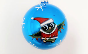 Christmas Ornament - Owl with Christmas Lights