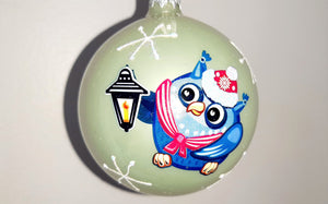 Christmas Ornament - Owl with Candle