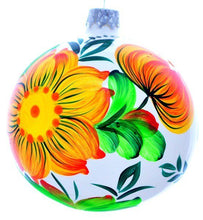 Load image into Gallery viewer, Christmas Ornament - Flowers on White