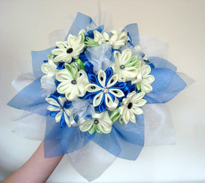 Sample Bridal Bouquet - Kanzashi Flowers