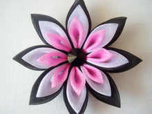 Load image into Gallery viewer, Black Crystal Kanzashi Hair Clip