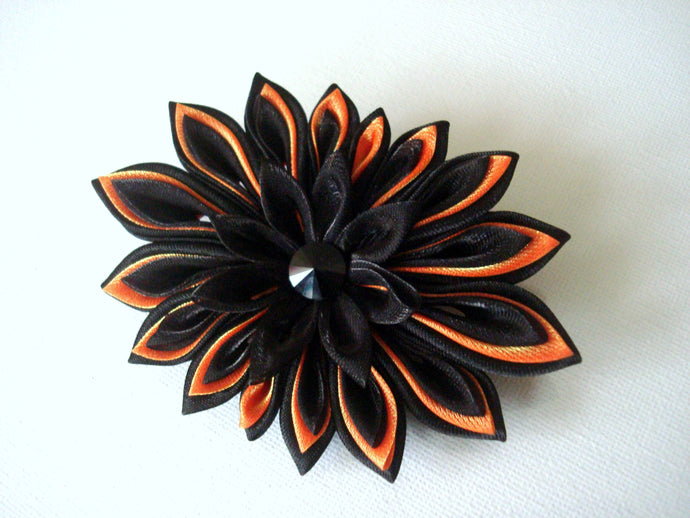 Black and Orange Halloween Brooch