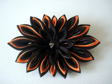 Load image into Gallery viewer, Black and Orange Halloween Brooch