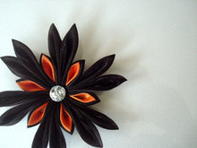Load image into Gallery viewer, Black and Orange Halloween Hair Clip