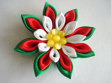 Load image into Gallery viewer, Christmas Kanzashi Hair Clip or Pin