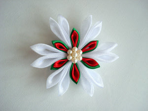 Kanzashi Hair Clip in Festive Colours