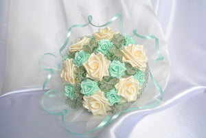 Sample Bridal Bouquet - Ribbon Roses