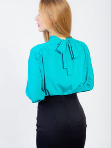 Blouse with a Bow at the Back
