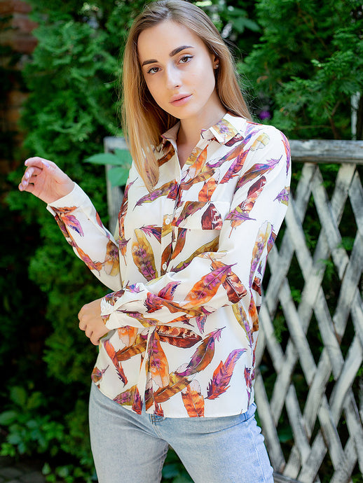 Feather Print Shirt