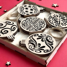 Load image into Gallery viewer, Gift Box Merry Christmas - Wooden Christmas ornaments