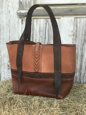 Hand Carved Rough Out Tote