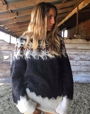 Vintage Alpaca Sweater from Bolivia