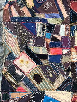Antique Crazy Quilt c. 1883