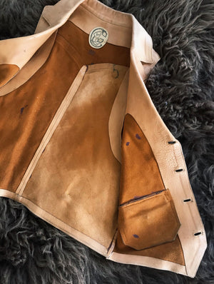 Vintage Leather Vest from the Early 1960's