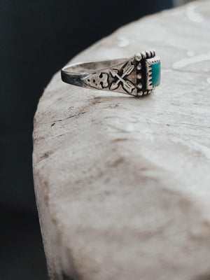 Vintage Turquoise and Arrow Ring