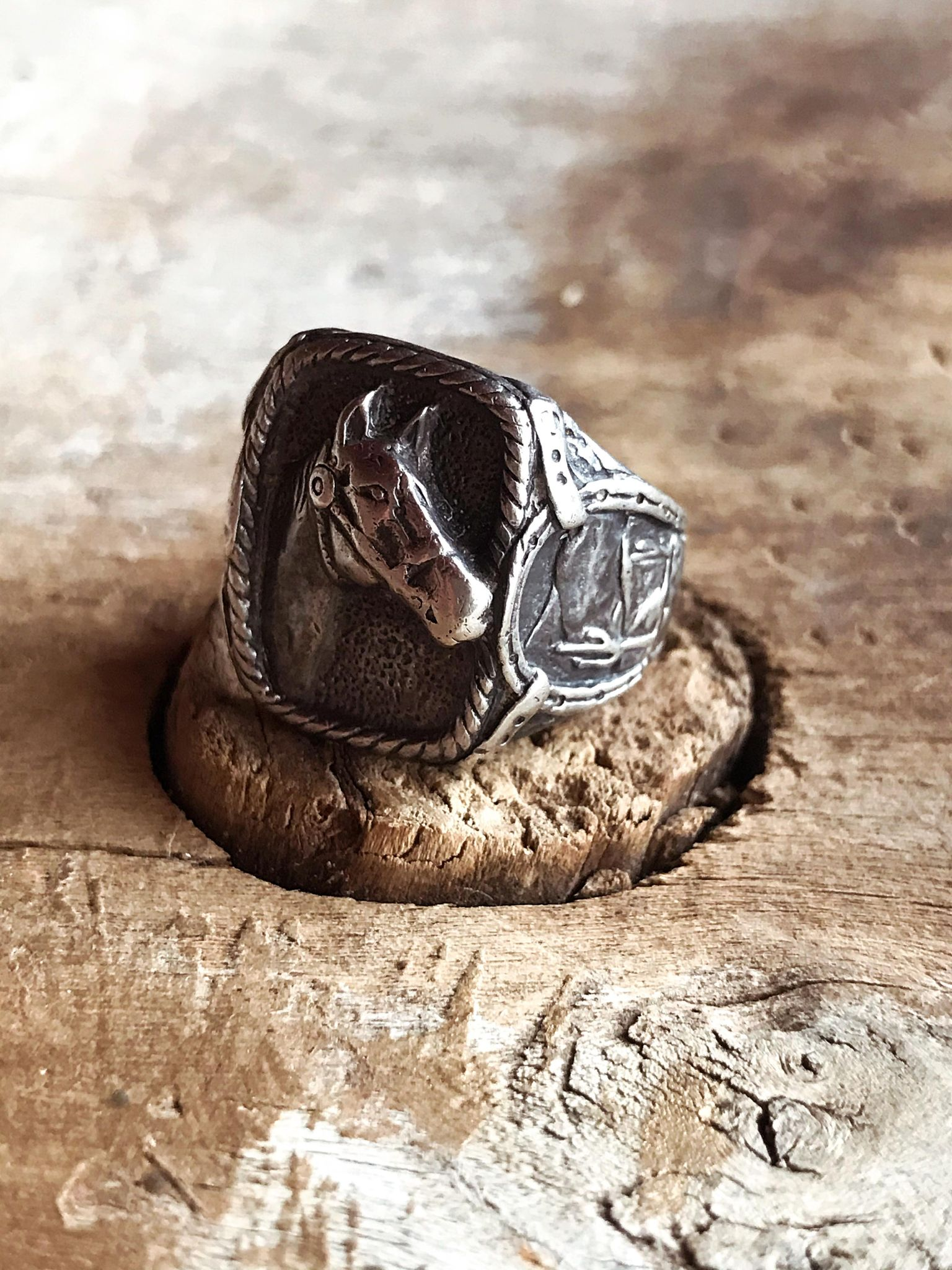 Vintage Sterling Horse Head Ring