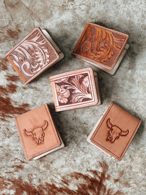 Hand Carved Leather Wallet