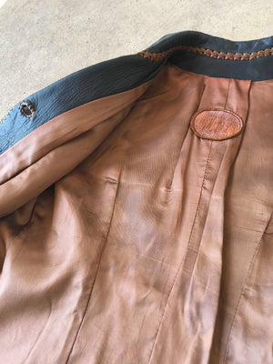 70's North Beach Leather Lambskin Jacket