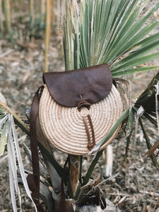 Raffia + Leather Moroccan Bag